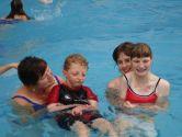 Libby, Matthew, Belinda & Keriann are in the pool