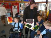 Charlie, Libby, George and Marshall discuss their artwork