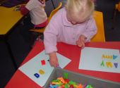14 February 2008: Amy is matching letters