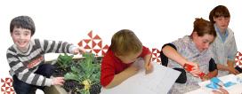 Photos of children undertaking different activities
